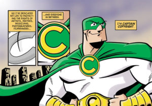 copyright checker super hero